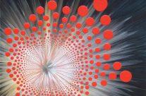 Infini rouge 2 – Huile et acrylique sur toile – 120 x 120 cm