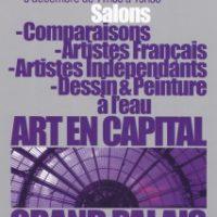 Salon des Artistes Français et Salon du Dessin et de la Peinture à l'eau – ART EN CAPITAL – Paris 08 – 2013