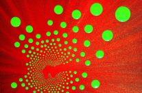 GREEN BALL – Acrylique sur toile sans chassis – 25 x 25 cm
